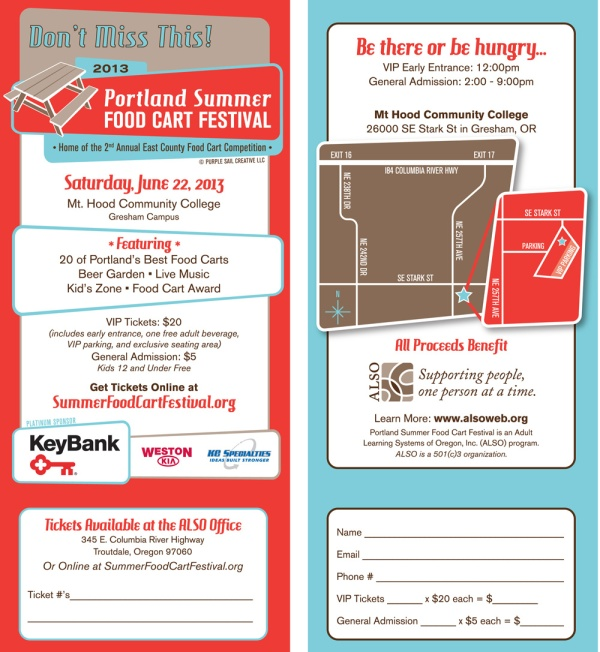 Food Cart Festival Rack Card