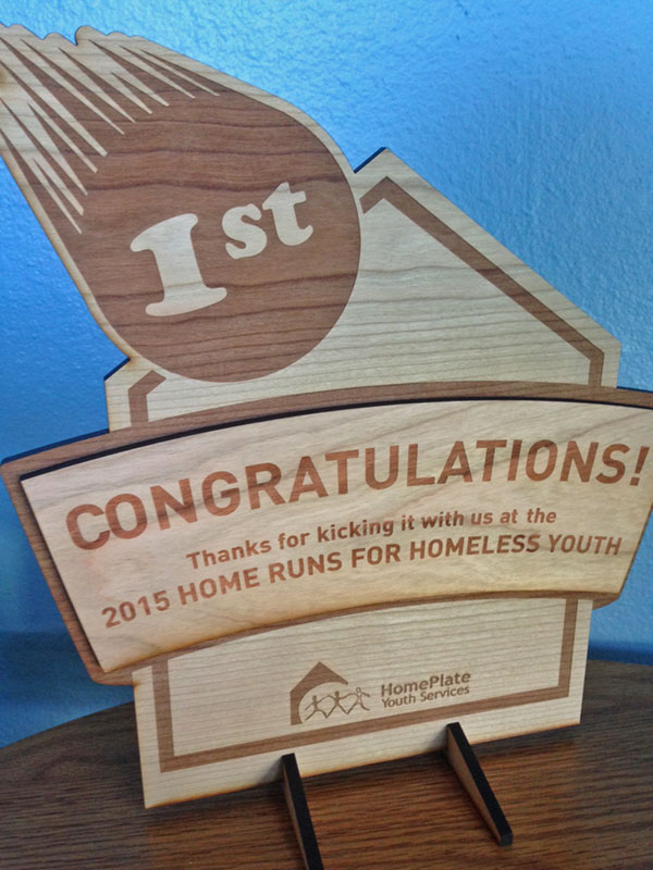 2015 Home Runs for Homeless Youth Custom Trophy