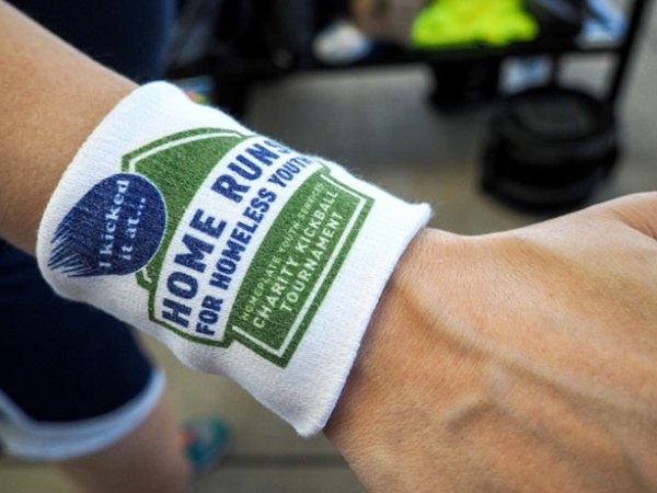 2015 Home Runs for Homeless Youth Athletic Wrist Bands